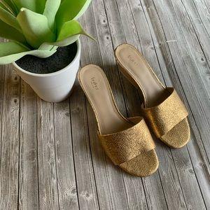 Botkier Gold Carlie Mule Sandal